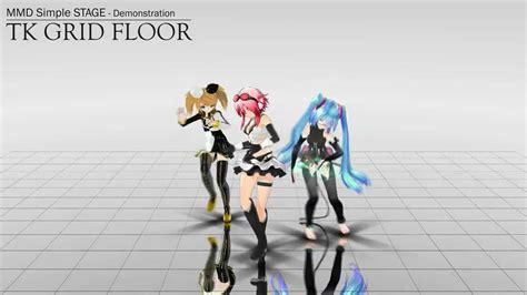 mmd remove floor mmd ステージ配布 simple stage quot tk grid floor quot dl
