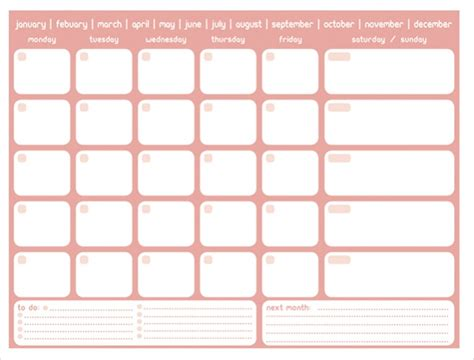 printable monthly calendar with design 17 free monthly calendars psd vector eps excel download