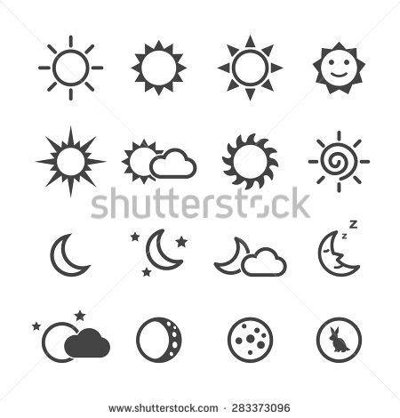 small sun tattoo designs sun and moon icons mono vector symbols yarn painting