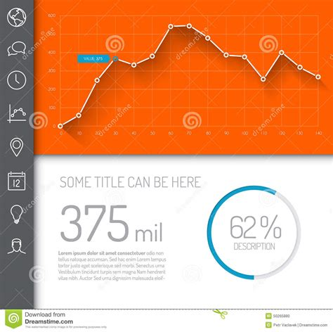 Simple Infographic Dashboard Template Stock Illustration Image 50265880 Infographic Dashboard Template