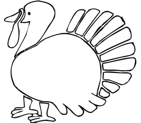 blank turkey template turkey template animal templates free premium templates