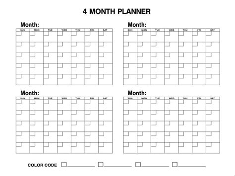4 month calendar template 2015 six month printable 2016 calendar calendar template 2016