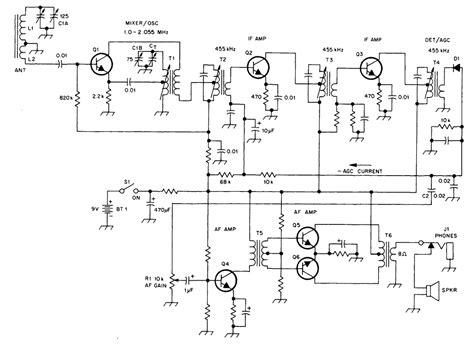 transistor radio schematic diagram am transistor radio schematic diagram one transistor
