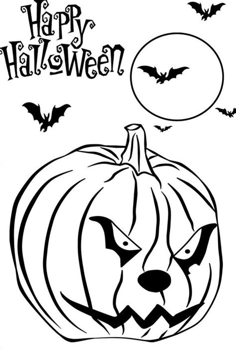 coloring pictures of scary pumpkins smilling pumpkin halloween coloring pages kids printable