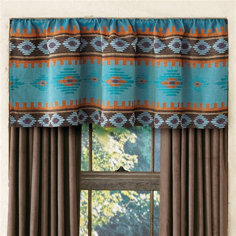 southwest curtains and blinds skystone turquoise rod pocket southwest valance
