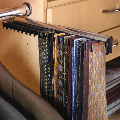California Closet Tie Rack by Hafele Synergy Tie Rack With 3 4 Extension Slide 807 54 233 Closet Masters