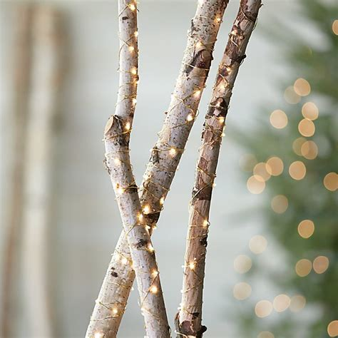 how to string lights on tree branches twinkle gold string lights crate and barrel