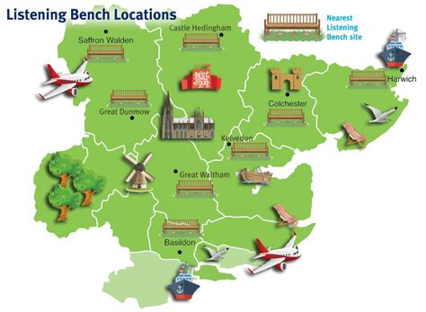 bench locations you are hear bench and kiosk tours