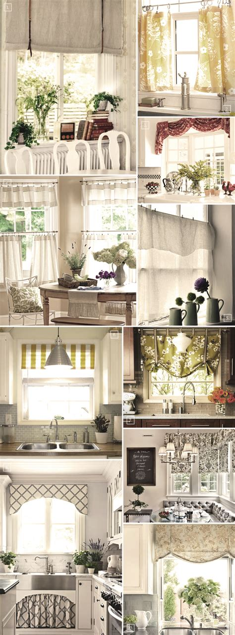 Shabby Chic Decor And Kitchen Curtain Ideas Afreakatheart Kitchen Window Curtain Ideas