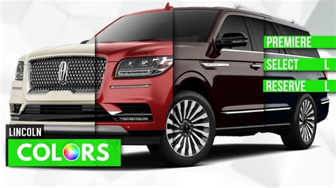 lincoln colors 2018 lincoln navigator colors premiere select