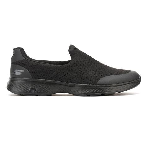 Skecher Go Walk 4 Sport skechers mens trainers go walk 4 black slip on sport shoes ebay
