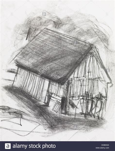 scheune gezeichnet country sketch stockfotos country sketch