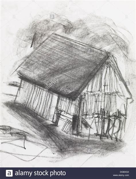 Scheune Gezeichnet by Country Sketch Stockfotos Country Sketch