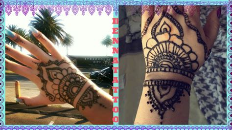 how to do a henna tattoo hand design youtube