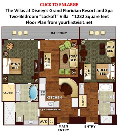 bedroom plan theming and accommodations at the villas at disney s grand floridian resort spa
