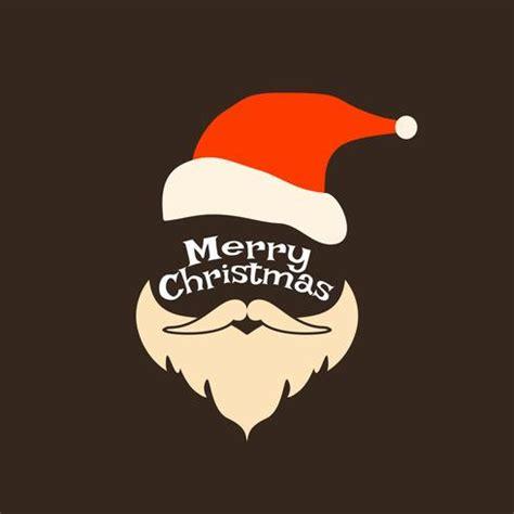 abstract decorative merry christmas  santa face   vector art stock graphics