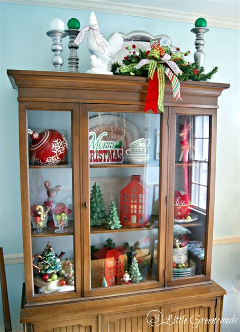 top of cabinet christmas decor christmas dining room holiday home tour