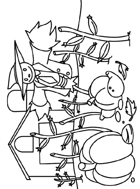 crayola coloring pages fall scarecrow watching coloring page crayola com