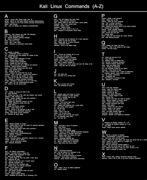 kali linux beginner tutorial pdf cyber technique kali linux commands cheat sheet