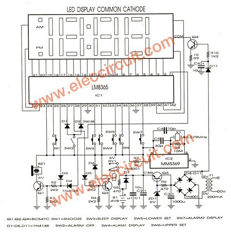 how to make schematic diagram lm8365 digital clock circuit board eleccircuit