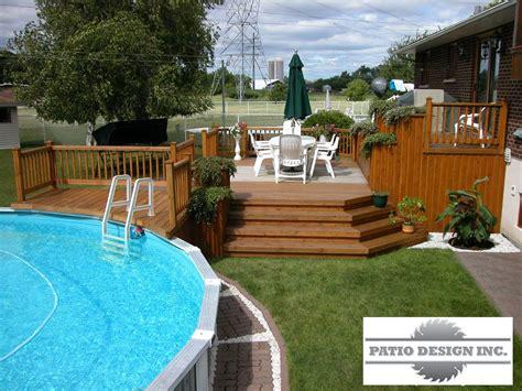 Patio Piscine by Patio Avec Piscine Hors Terre Ext 233 Rieur
