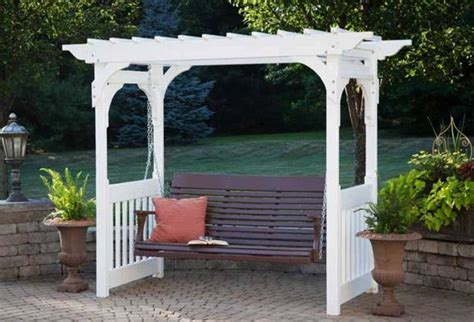 berlin swing berlin gardens vinyl swing arbor from dutchcrafters amish