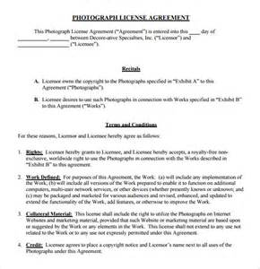 royalty free license agreement template sle license agreement 7 exle format