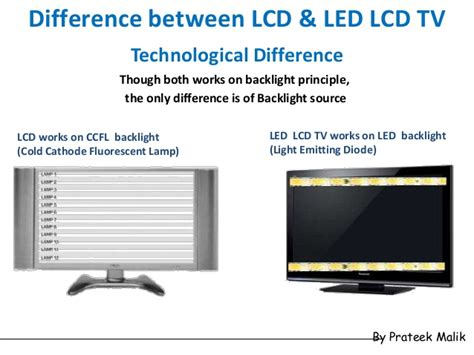 difference between diode and led flat panel display