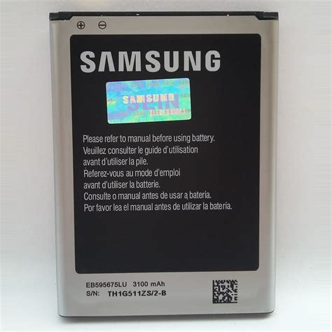 Baterai Ori Hp Samsung Galaxy jual baterai batre hp samsung galaxy note 2 note2 n7100 original 100 sein i ryck shop