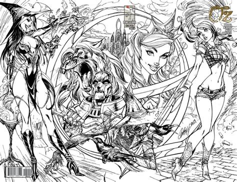 grimm tales coloring book box set books grimm tales presents oz 1 zenescope entertainment