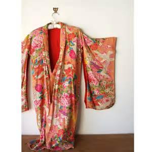 colorful kimono vintage silk kimono colorful floral pattern dressing gown