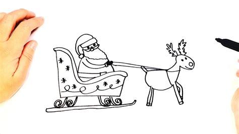 santa  reindeer drawing  getdrawingscom   personal  santa  reindeer drawing