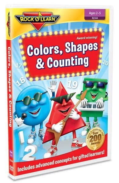 colors dvd colors shapes counting dvd rock n learn