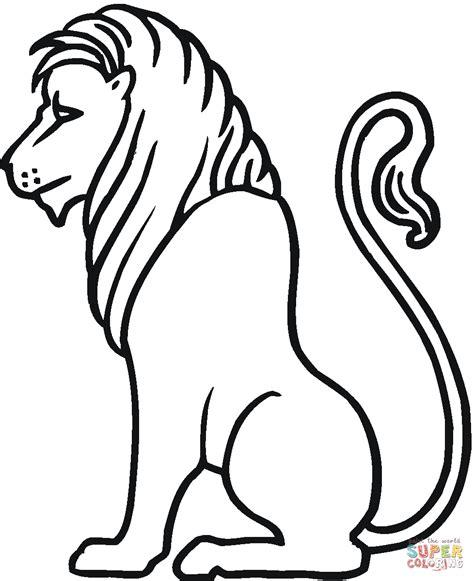 imagenes para dibujar un leon dibujo de le 243 n sentado de perfil para colorear dibujos