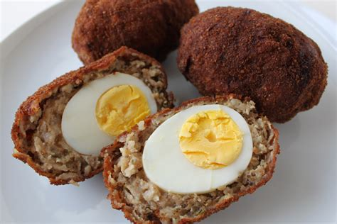Scotch eggs meats roots and leaves