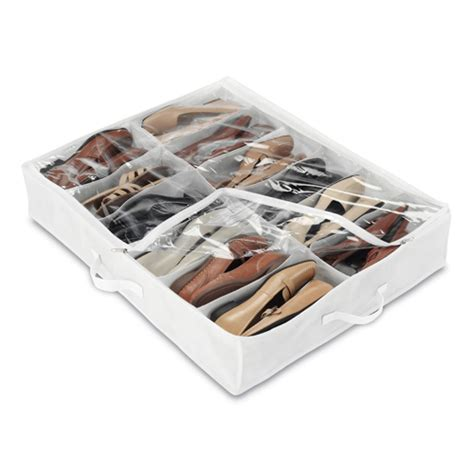 under the bed shoe rack under bed shoe organizer white in under bed storage
