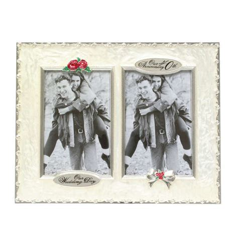 40th Wedding Anniversary Then and Now Picture Frame