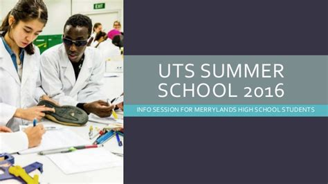 Uts Mba Information Session by Uts Summer School Info Session For Mhs 2016