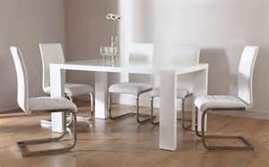 White Gloss Dining Table And Chairs Stockholm Perth White High Gloss Dining Table 4 6 Leather Chairs Set White Ebay