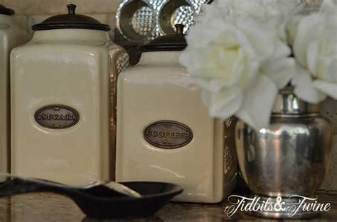 what to put in kitchen canisters how to decorate above kitchen cabinets tidbits twine