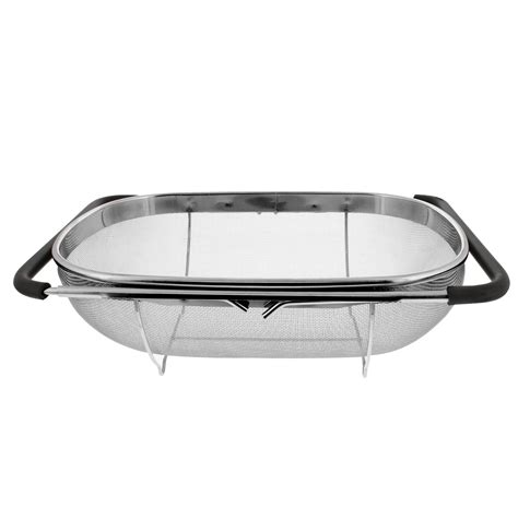 the sink colander the sink stainless steel oval colander with mesh