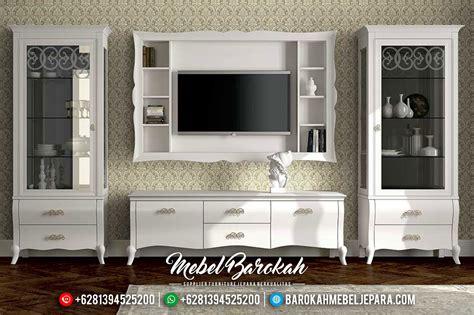 Almari Partisi Minimalis Bofet Tv Minimalis set bufet tv minimalis modern putih model eropa mewah terbaru js 0108 jual sofa tamu jepara