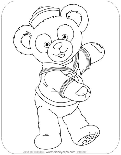 duffy  bear  friends coloring pages disneyclipscom