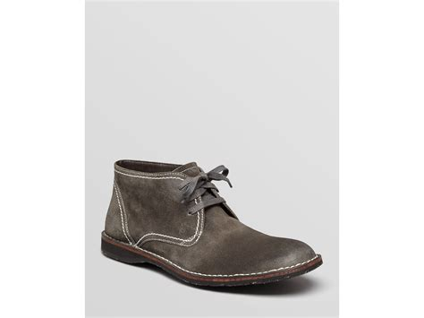 varvatos suede chukka boots in gray for
