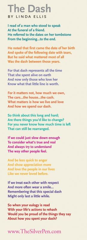 printable version of the dash poem live your dash poem printable book covers