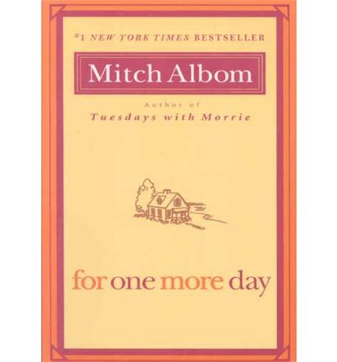 Mitch Albom For One More Day for one more day mitch albom 9781401309572