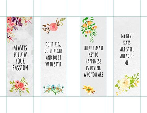 printable bookmarks with quotes pdf fantastic printable bookmarks template photos resume