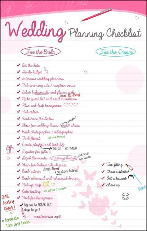 wedding planning checklist  groom    easy