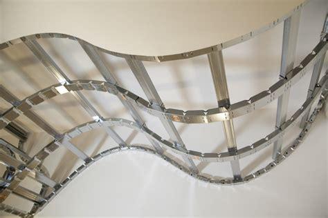 struttura cartongesso soffitto come costruire un soffitto a onde con profili flessibili