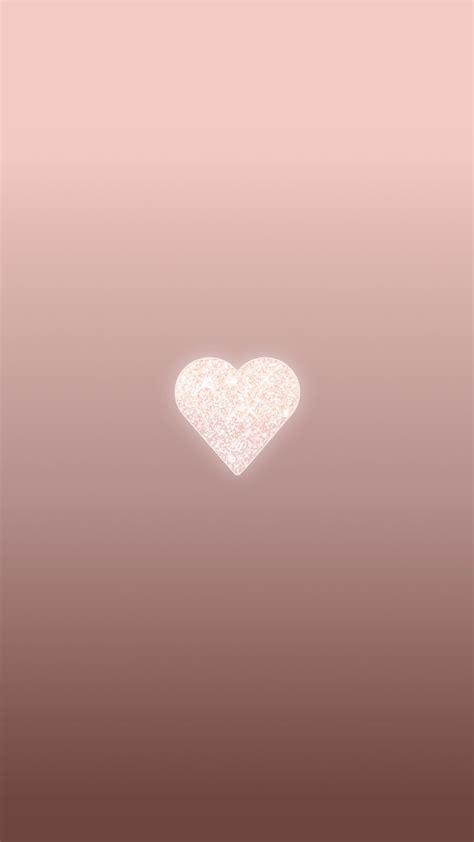 rose gold heart phone wallpaper background lock screen